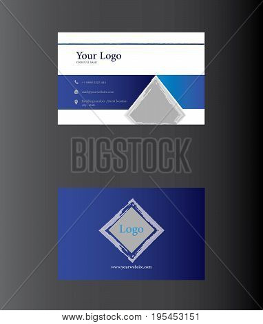 Blue various business card. You can edit the card by adding your name , company name and all details