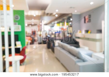 abstract blur background furniture store on sale - can use to display or montage on product