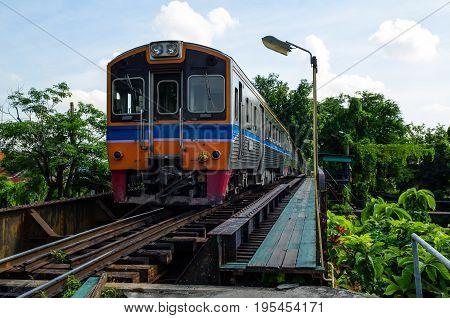 Railroad in Thailand. transportation background, railway , train