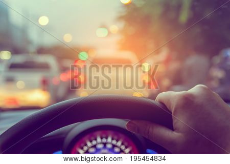 People Driving Car On Day Time .