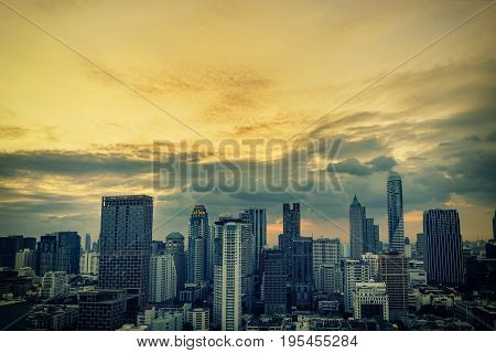 abstract cityscape on pastel retro filter - can use to display or montage on product