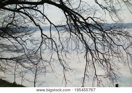 South Bohemian ponds with a little nostalgia, quiet surface, blue sky