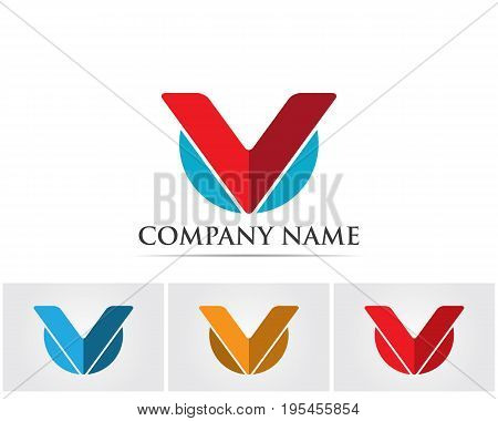 V Letter Logo Business Template Vector icon