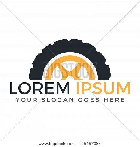Tire shop or tire company vector logo design.