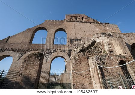 Ruins at the Imperial Fora, Rome, Italy