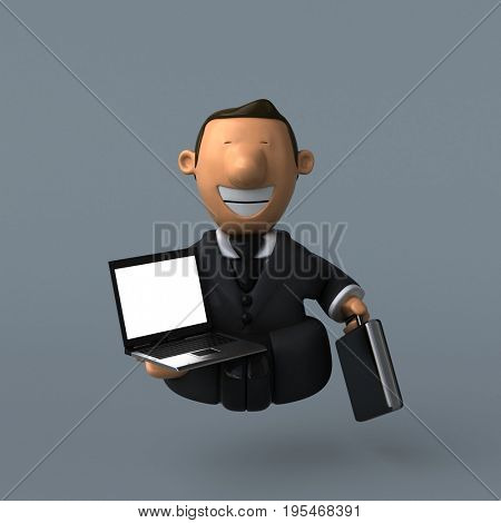 Cartoon businessman - 3D Illustration