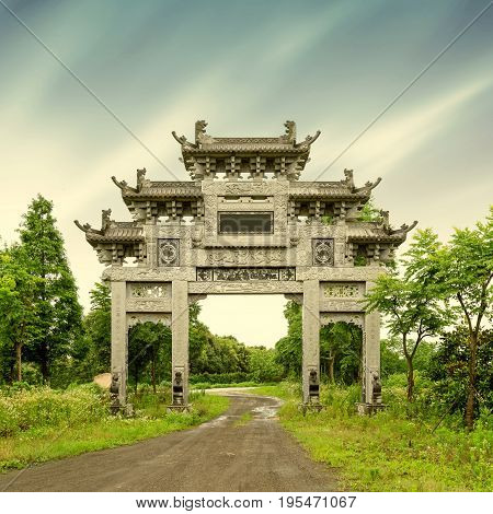 China 's history of ancient buildings in Hangzhou, arches