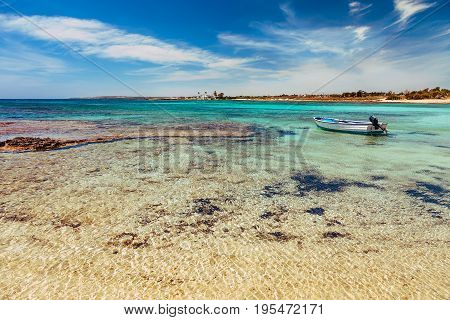 Beautiful Landscape Near Of Nissi Beach And Cavo Greco In Ayia Napa, Cyprus Island, Mediterranean Se