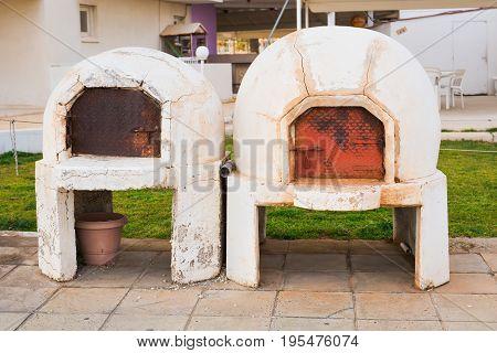 Traditional Greece and Cyprus kleftiko pit oven. Mediterranean cuisine. Greek Lamb