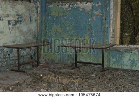 Abandoned Room In Ghost Town of Chernobyl Within Chernobyl Alienation Zone