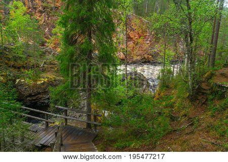 Kiutakongas Rapids In Oulanka National Park