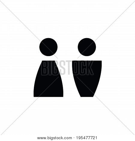 wc icon - toilet sign in pure style - toilet door vector symbol