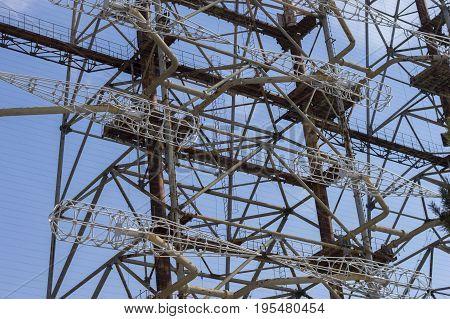 Soviet Radar System Duga near Chernobyl Nuclear Power Plant