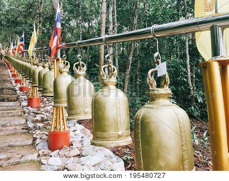A big bells at the temple of Thailand