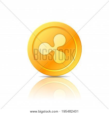 Ripple coin symbol icon sign emblem. Vector illustration.