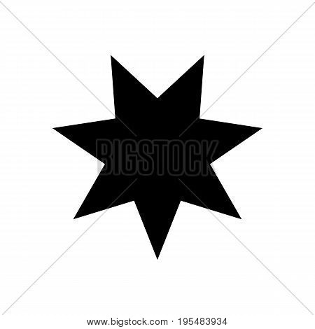 Seven-pointed star - Vector icon Seven-pointed star Icon Vector Seven-pointed star icon Seven-pointed star- Vector icon