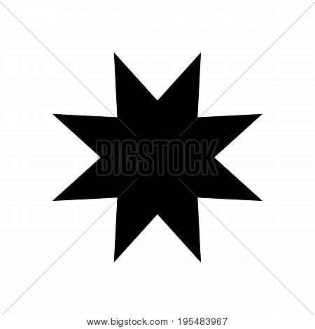 Eight-pointed star - Vector icon Eight-pointed star Icon Vector Eight-pointed star icon Eight-pointed star- Vector icon
