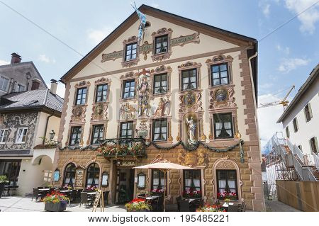 Hotel Zum Rassen  In Garmisch, Germany, Editorial