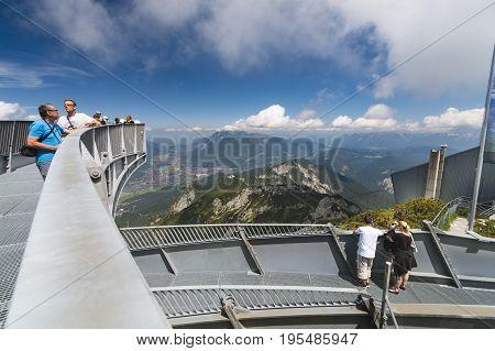 Tourists On Alpspix Observation Platform, Editorial