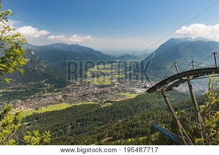 Garmisch-partenkirchen, Germany Seen From Kreuzeck