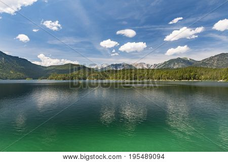 Eibsee And Mountains, Germany