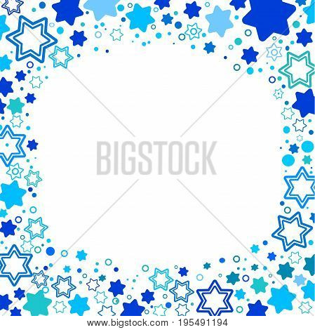 Vector illustration of star of David symbol of Israel . A frame from the stars of David. Elegant style design. Vector art