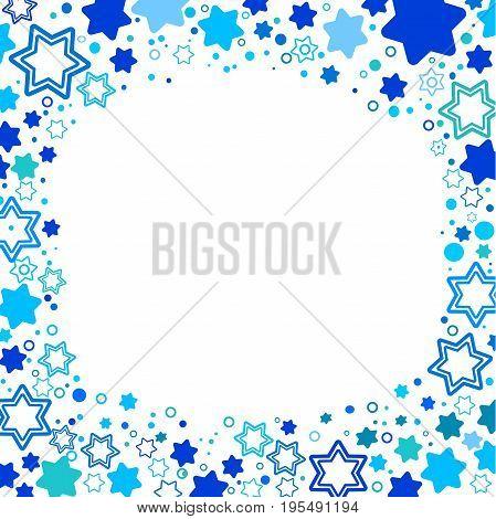 Vector illustration of star of David symbol of Israel . A frame from the stars of David. Elegant style design. Vector art
