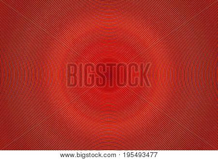 Abstract orange radial rings circle image design