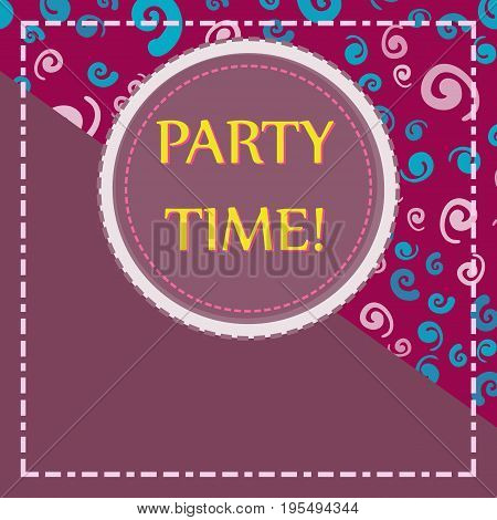 Template for Child Party Flyer Print with Copyspace