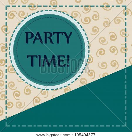 Template for Child Party Cover Postcard Print with Copyspace