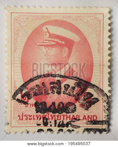THAILAND - CIRCA 1914: A stamp printed in Thailand shows King Bhumibol Adulyadej prince of Siam circa 1997, 2 baht