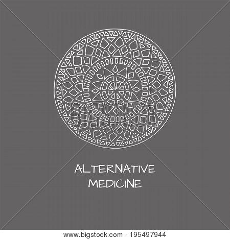 Logo in arabic style for yoga studio holistic center and alternative medicine