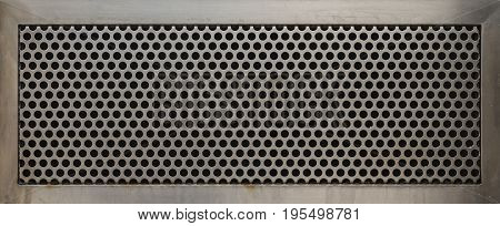 Perforated metal plate. Texture for your design