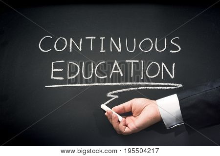 Concept Continuous Education For White Collar Personnel In Corporate Business