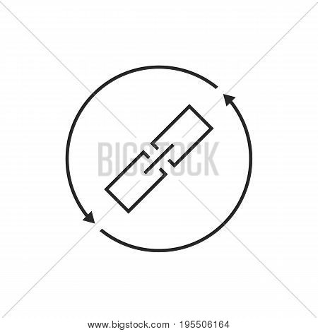 link exchange thin line icon. concept of chainlink, safety, virtual, database, synchronization, remote, sync. isolated on white background. flat style trend modern logo design vector illustration