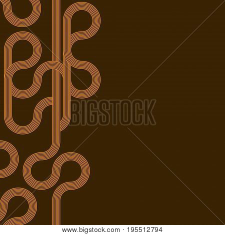 abstract vector background with stripes pattern - brown