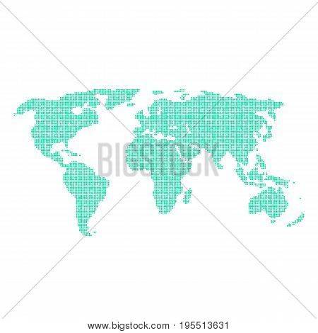 green world map from different points. concept of infographics element, trip around the world, globalization. isolated on white background. flat style trend modern logo design vector illustration