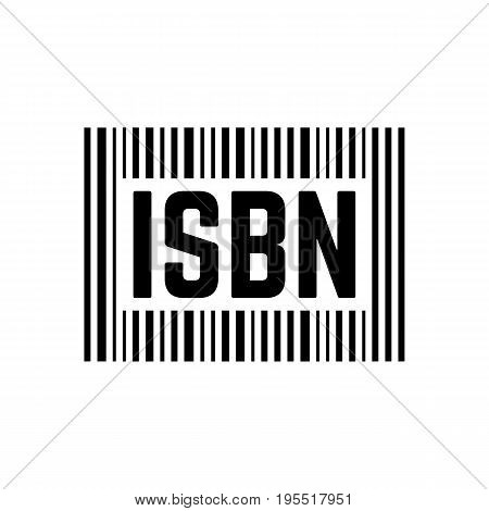 black isbn sign with barcode. concept of scanning, identifying, brochure key, international publishing, commerce. isolated on white background. flat style trend modern logo design vector illustration