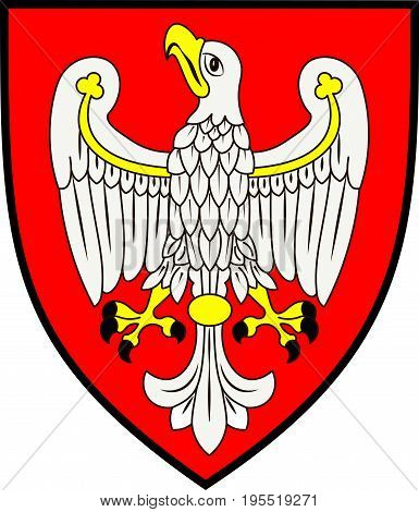 Coat of arms of Greater Poland Voivodeship or Wielkopolska Province in west-central Poland. Vector illustration from Giovanni Santi-Mazzini Heraldic 2003