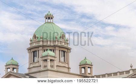 BELGRADE SERBIA - MAY 25 2017: National Assembly on May 25 2017 Belgrade Serbia