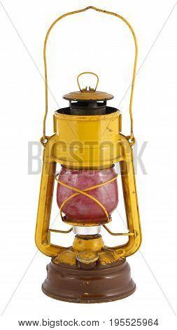 Vintage gasoline lantern isolated on white background