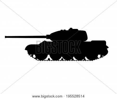 silhouette of a military tank without background