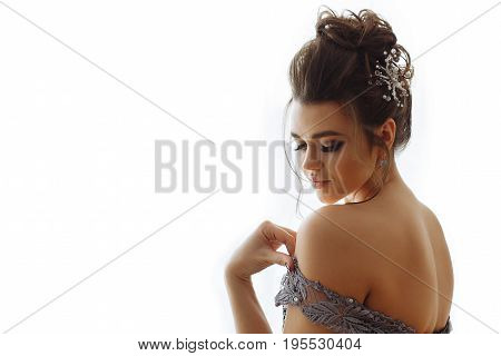 Attractive Lady With Makeup In Erotic Dress