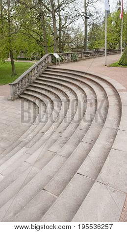 stairs at a park in Fulda a city in Hesse Germany