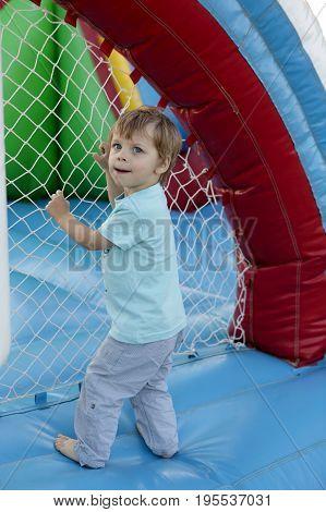 Child On A Trampoline