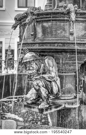 Neo-gothic. Cholerabrunnen, Cholera Fountain Dresden Saxony Germany