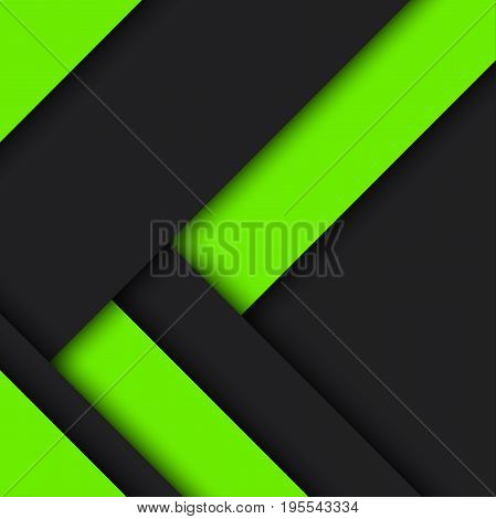 Black and green modern material design vector abstract background