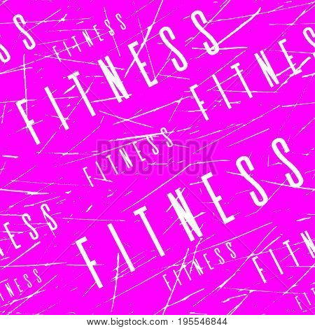 Kinesio tape horizontal seamless pattern or background. Fitness pink Scratched design elements, gym label, sport textile fabric vector