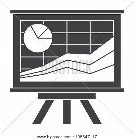 Financial statistics concept with whiteboard and charts