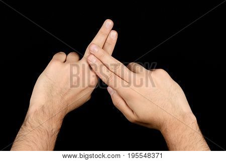 The Language Of The Deaf English Version Of The Gesture The Letter F Signaling Bsl